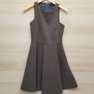 {M} Zara Collection Gray Fit & Flare Dress